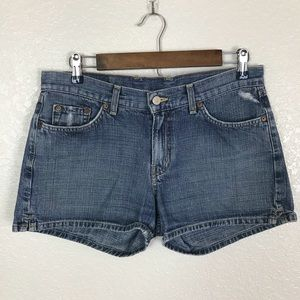 Vintage Lucky Brand Dungaree Distressed Shorts